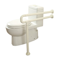 C Shaped Grab Bar With Floor Support
