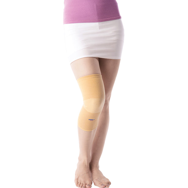 Patella Ribbed Elasticated Knee Caps/Pair