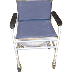 Adj Commode With Back Rest /Fixed