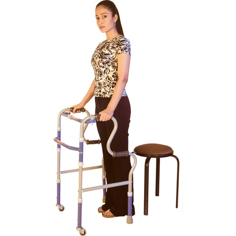 Step Adjustment Folding Walker Castor