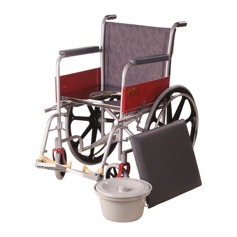 Wheel Chair Regular With Commode/ Mag Wheels
