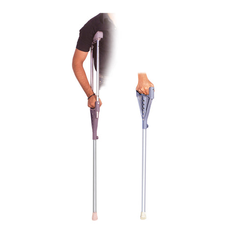 Two In One Under Arm Crutches & Walkng Stick