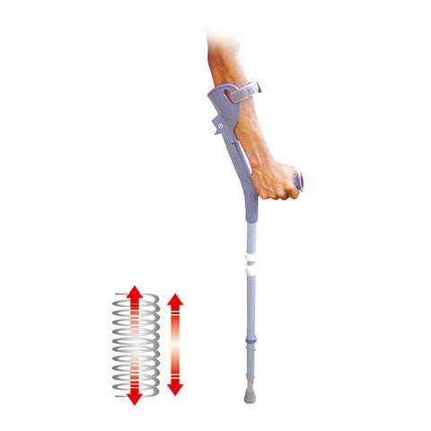 Shock Absorb Fore Arm Elbow Crutches /Pair