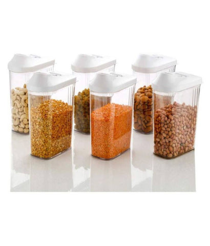 Easy Flow Polyproplene Dal Container Set of 6 (1100 ml)