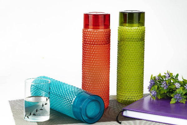 Bubble Water Bottle Multicolour 1000 mL Plastic Water Bottle set of 3