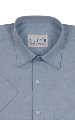 Alive EasyWear Shirt - Grey - Short Sleeve