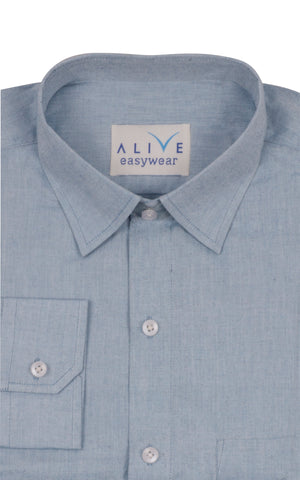 Alive EasyWear Shirt - Grey - Full Sleeve