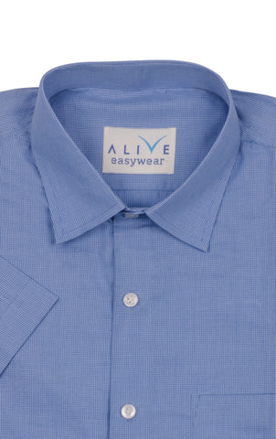 Alive EasyWear Shirt - Premium Blue - Short Sleeve
