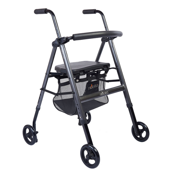 M 200MG - Aluminium Walker - Foldable - Metallic Graphite