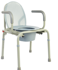 M303 - Deluxe Heavy Duty Drop-Arm Commode