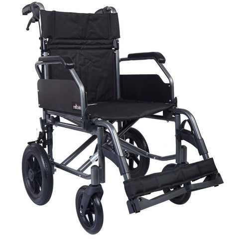 m 601 MG - Aluminium Wheelchair - Flip up armrest -  Metallic Graphite