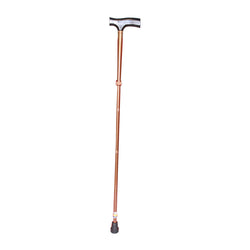 Folding Cane - (2352) - T-Shape Wood Handle