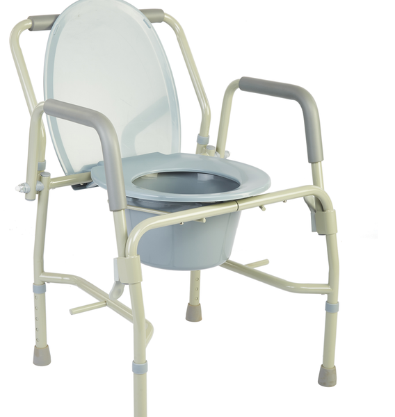 M301 - Drop-Arm Bedside Commode with Padded Arms