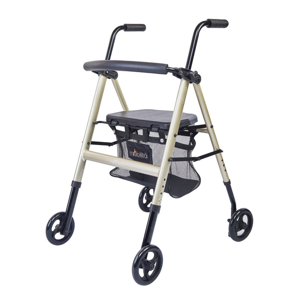 M 200MC - Aluminium Walker - Foldable - Metallic Champagne