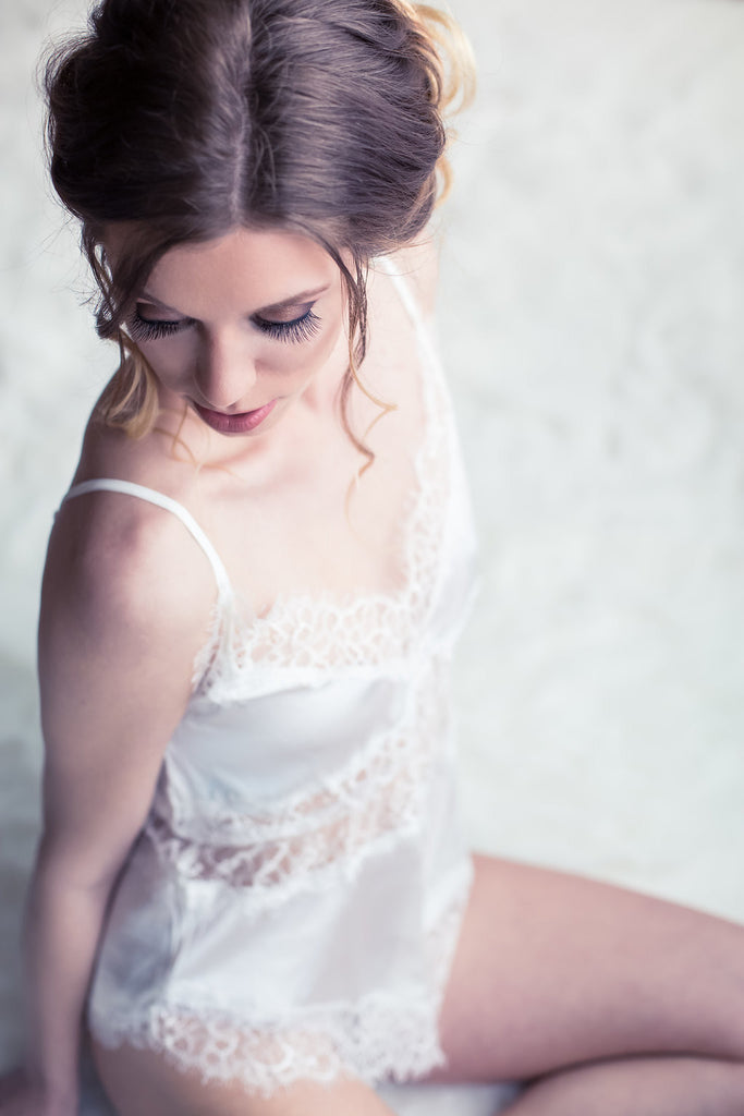 Koki Intimi. Monarch Butterfly Romper, perfect for a bridal boudoir session.