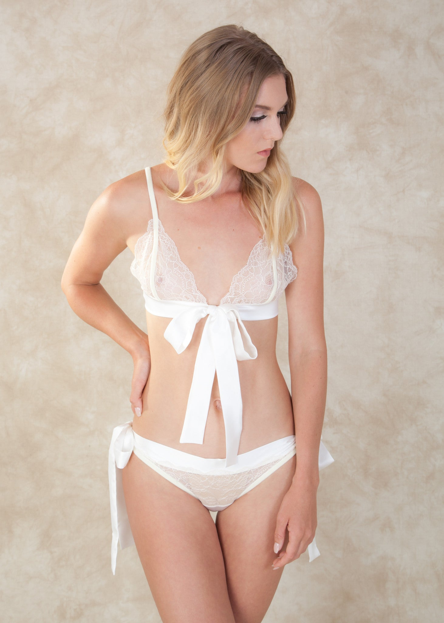 053877233a1 By Amoralle. The Adeline Bralette is made with delicate lace