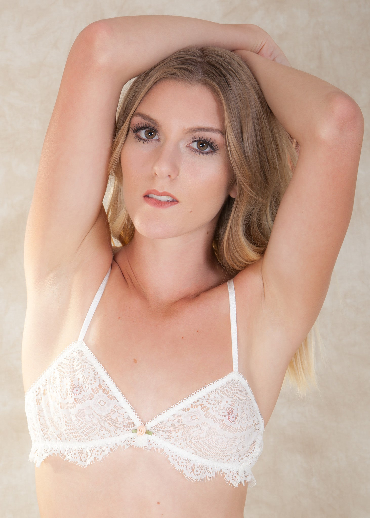 a9abe3cfdb5 By Miss Crofton. The Aurora Bralette is made from a delicate cream eyelash  lace and ...