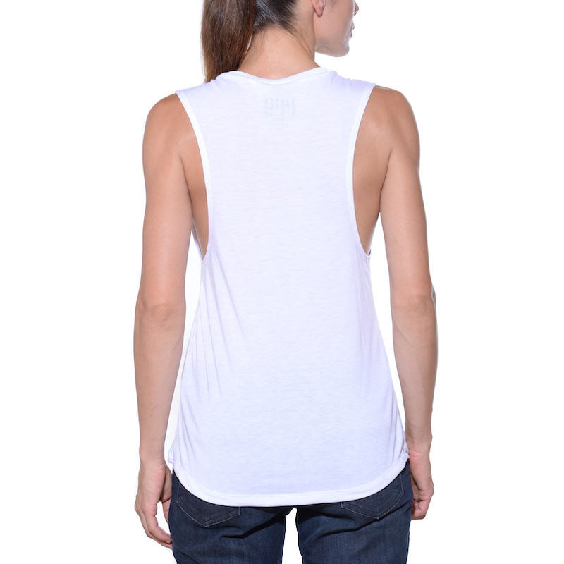Cool, white, graphic, muscle tank
