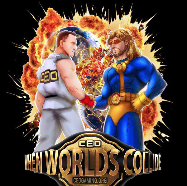"Official CEO x NJPW ""World's Collide"" T-shirt"