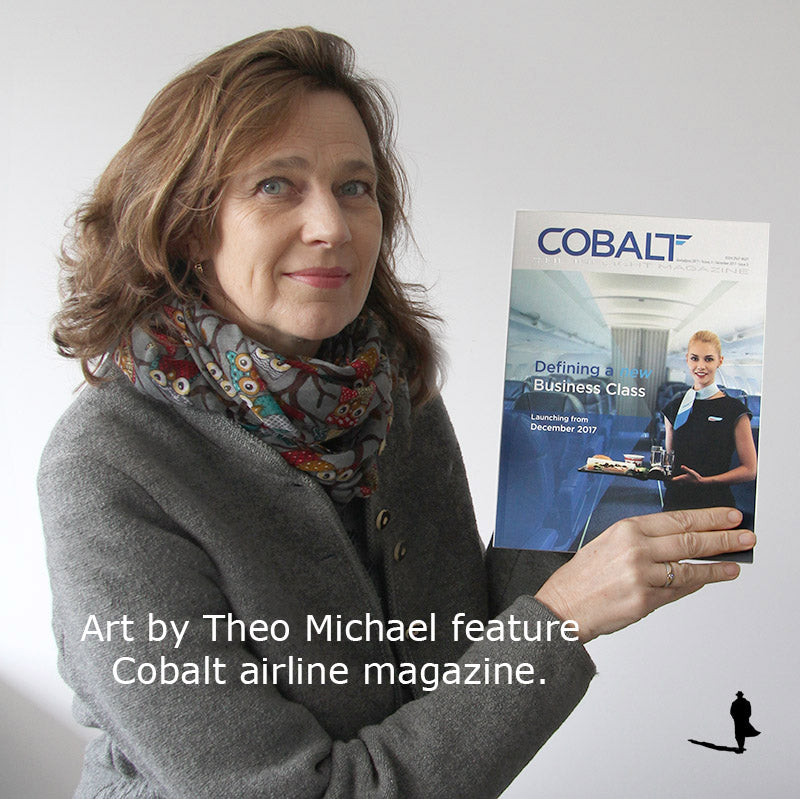 Cobalt The Inflight Magazine featuring Art by Theo Michael