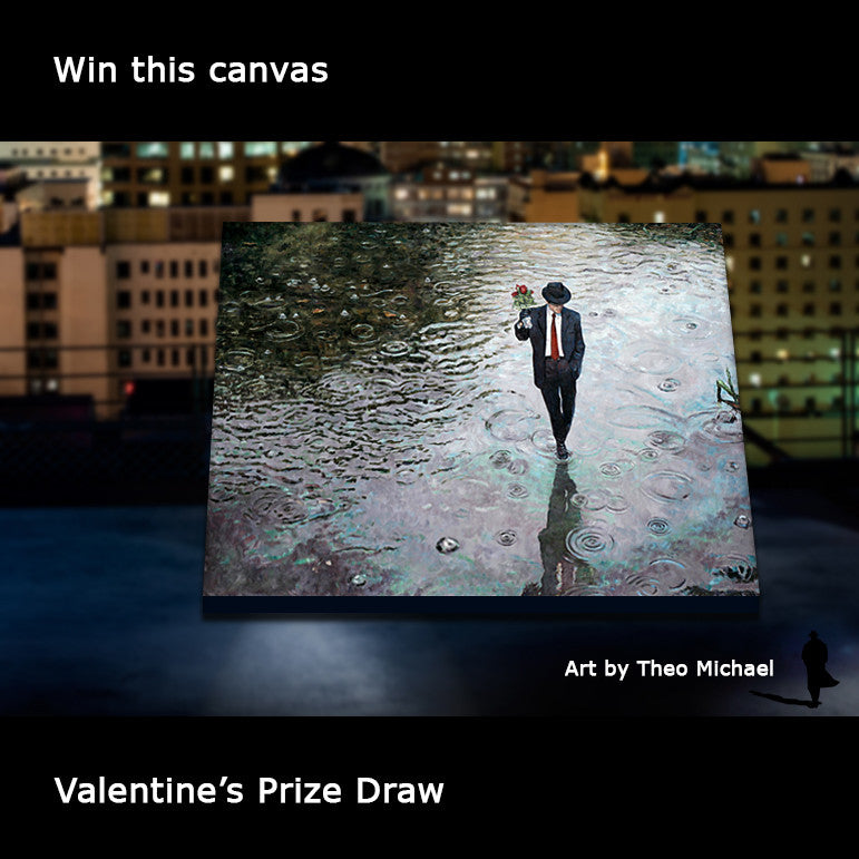 Valentine's Prize Draw, win this canvas.