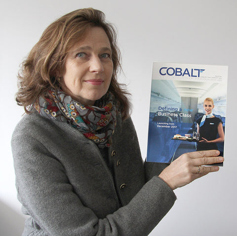 Art by Theo Michael is featured in the Cobalt Inflight Magazine