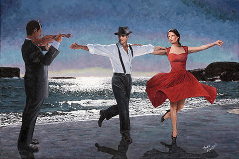 Moonlight Dancers, an oil painting by Theo Michael featured in the Cobalt Inflight Magazine