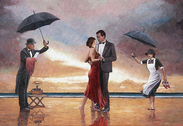 Homage to the Singing Butler, a painting inspired by Jack Vettriano
