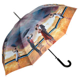 Buy a walking style umbrella of Homage to the Singing Butler from Art by Theo Michael