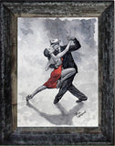 Fine art watercolour study, Tango Dancers by Theo Michael
