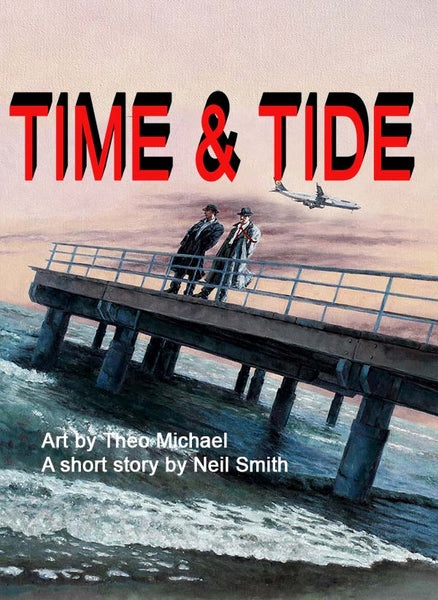 Time & Tide an oil painting by Theo Michael featuring the Larnaca pier
