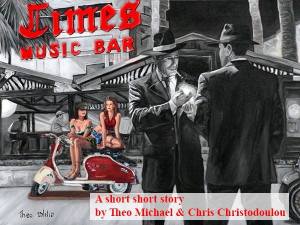 The Times Music Bar, a painting and short story by Theo Michael