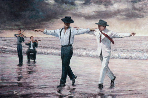 Zorba The Greek inspired oil painting by Theo Michael