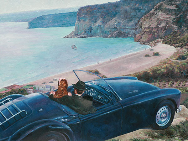 Romantic Art Noir paintings by Theo Michael, Car With A View