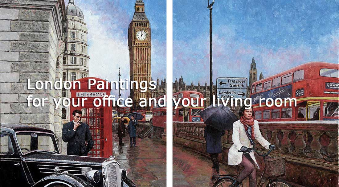 Paintings London, a collection of London inspired oil paintings