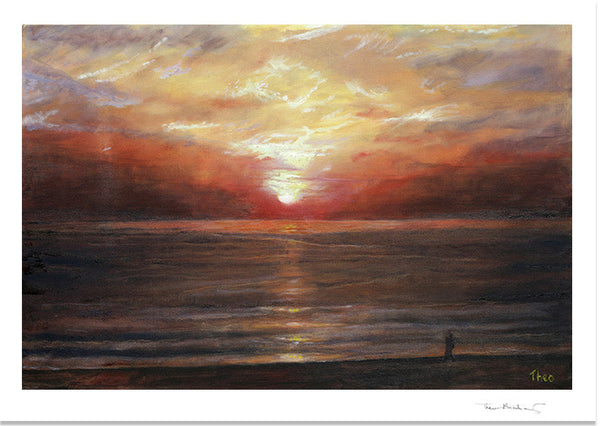 Mediterranean Canvas print by Theo Michael, sunrise