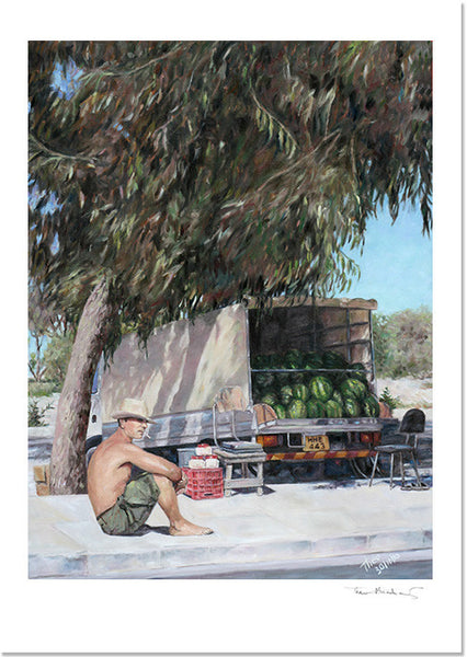 Mediterranean Fine Art Print of The Melon Seller by Theo Michael