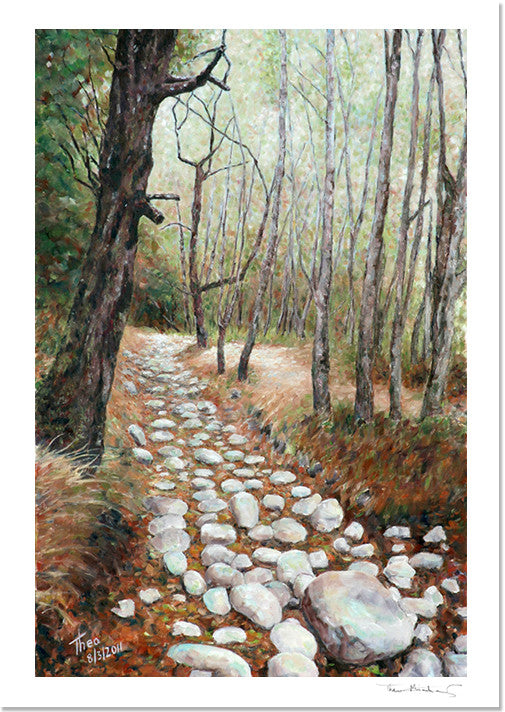 Mediterranean Fine Art Print by Theo Michael of a woodland scene