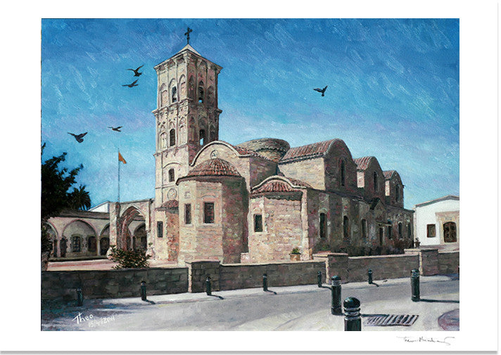 Mediterranean Fine Art Print by Theo Michael, St Lazarus Church in Larnaca, Cyprus
