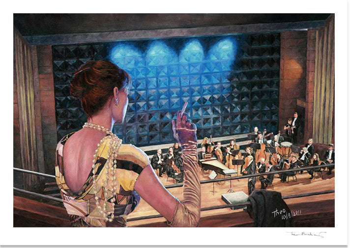 Romantic Fine Art Print of The Rehearsal, by Theo Michael