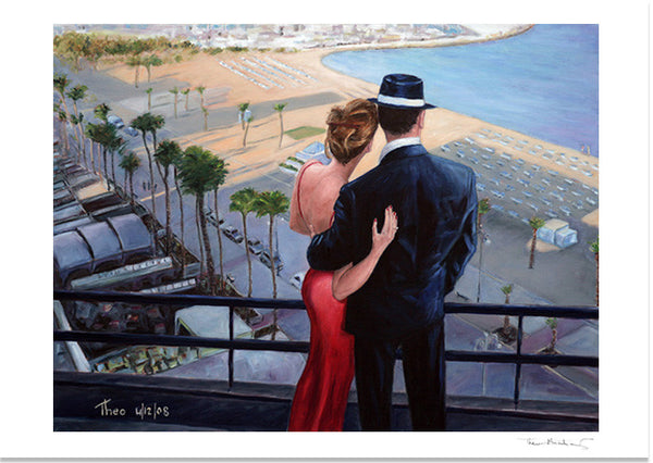 Romantic Fine Art Print of Balcony With A View by Theo Michael