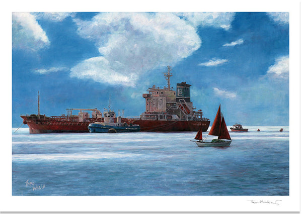 Mediterranean Fine Art Print by Theo Michael, The Tanker
