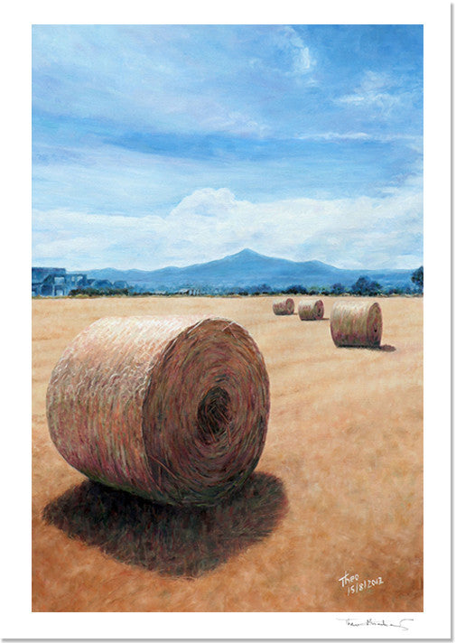 Mediterranean Fine Art Print by Theo Michael, Haystacks in Cyprus