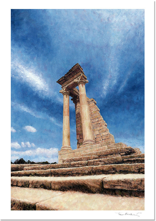 Mediterranean Fine Art Print by Theo Michael, Temple Of Apollo Kourion Cyprus