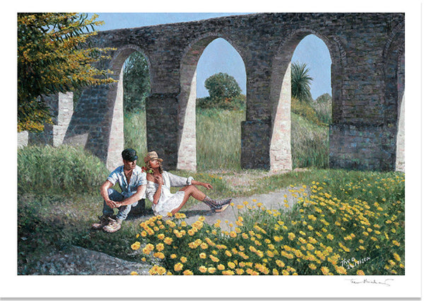 Mediterranean Fine Art Print by Theo Michael, Kamares Aqueduct in Larnaca