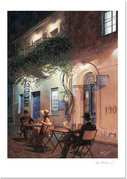 Romantic Fine Art Print, Cafe At Night by Theo Michael