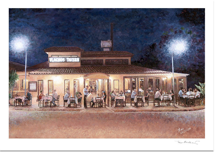 Fine Art Print by Theo Michael, Vlachos Tavern in Larnaca