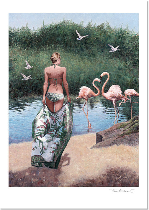 Mediterranean Fine Art Print by Theo Michael, Lady Of The Lake