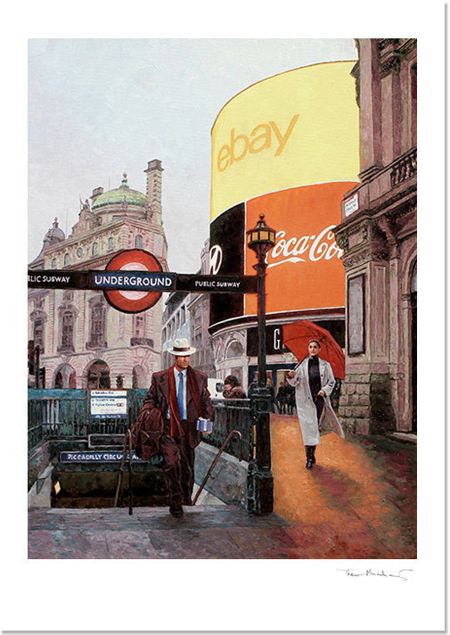 Fine Art Print by Theo Michael, Piccadilly Circus