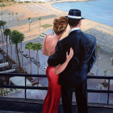 Romantic wall art by Theo Michael, Balcony With A View